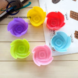 Rose a formé la fleur de moulage de gâteau de silicones de 7cm