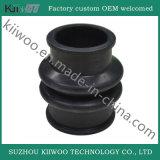 Soffietti e rilievo neri personalizzati della boccola della gomma di silicone