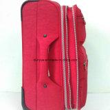 Haltbare Dame-stellen roter Unterlegscheibe-Knicken-Gewebe-Laufkatze-Kasten-Beutel, Zoll beiläufigen Arbeitsweg-Gepäck-Koffer mit Rädern her