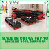 Mobília moderna do sofá do couro genuíno da sala de visitas