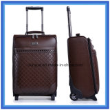 16/20/24インチ流行旅行トロリー袋、高品質PUの2つの車輪が付いている革荷物袋