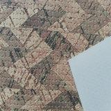 A grão tecida couro do plutônio da cortiça do falso para o salto elevado calç os sacos Hx-S1737