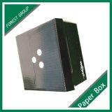 Kundenspezifische schwarze Matt-Laminierung-gewölbter Papierkasten