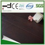 plancher stratifié par technologie allemande de fini d'Eir de chêne de chocolat de 12mm avec la plaque d'immatriculation