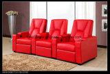 거실 Cineam 가구 빨간색에 있는 부분적인 3seat Recliner 소파