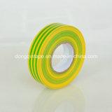 اللون الأخضر أصفر شريط [بفك] كهربائيّة عزل شريط مع [لوو بريس] ([0.13مّإكس19مّإكس20م])