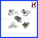 China modificó el imán de anillo para requisitos particulares permanente de la talla con la capa del níquel