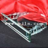 Schwarzer Thema-Kristallglas-Trophäe-Preis mit Sandstrahlen und gefärbt