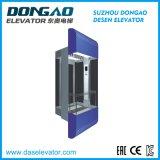 Ascenseur guidé en verre de bonne qualité avec le dispositif de Vvvf