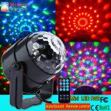 Mini LED luz mágica cristalina de la bola de la venta de la bola de la luz mágica cristalina barata caliente teledirigida para el disco del partido KTV de la familia