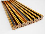 Карандаш Striped карандаша Hex с карандашем истирателя деревянным