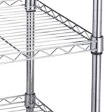 Вагонетка провода стеллажа для выставки товаров завальцовки 4 ярусов с Chromed или покрашено