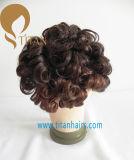 Venda por atacado de cabelo de mão de alta qualidade de cabelo humano Toupee