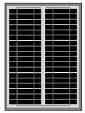 poli comitato solare 25W per indicatore luminoso solare