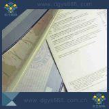 Certificado do papel do Watermark da segurança