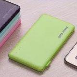 Universel I6V8 4000mAh PU Texture Power Bank pour téléphone mobile iPad