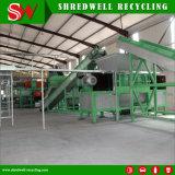 O Shredder Waste automático do pneu da tela de toque Output as microplaquetas de borracha de 50mm para a planta da pirólise