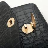 De zwarte Handtas van de Gesp Pu van het Metaal van het Patroon van de Krokodil (A030)