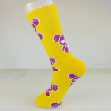 Halbe Kissen-Baumwollform-im Freiensport-Firmenzeichen-Socken