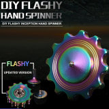 Metal Fidget Spinner DIY Fidget Toy Rainbow Flashy Hand Spinner
