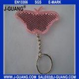 Rosafarbene reflektierende Schlüsselkette (JG-T-16)