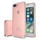 Cristal - caso macio abundante da tampa da tecnologia desobstruída TPU da absorção de choque para o iPhone 7 5.5-Inch positivos