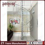 Escalier spiralé en verre d'intérieur à vendre (DMS-1062)
