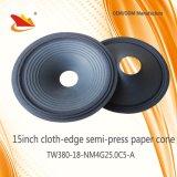 15inch Cloth-Edge de papel Cono-Altavoz Partes Cono