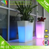 Crisol de flor iluminado LED alto del redondo de la talla grande grande