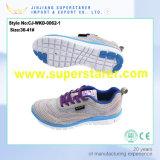 Sapatas de venda quentes das sapatilhas das mulheres do esporte do ar do engranzamento