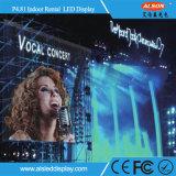 P4.81 Pantalla LED de alquiler en interiores para escenario
