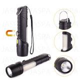 Lampe de poche en aluminium et plastique multifonction de haute qualité