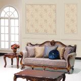 O sofá clássico da antiguidade do sofá da tela com mesa de centro de madeira ajustou-se para a sala de visitas