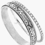 New Design Alloy Round Buckle Rhinestone Bracelets&Bangles for Women Men Gift