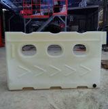 Weiße Rotationsverkehrssicherheit-Barrikade-temporäre Barrikade-Aufbau-Sicherheits-Barrikade-Plastikbarrikade