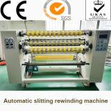 Cinta adhesiva automática que raja la máquina el rebobinar