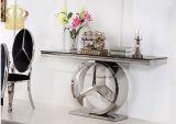 新製品の大理石の上のダイニングテーブルのローズの金のステンレス鋼ベースSj916