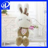 Presente macio do Natal do brinquedo do animal enchido do descanso da boneca bonito do brinquedo do luxuoso do coelho