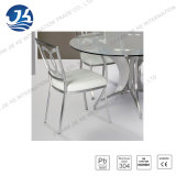 Silla de comedor de acero inoxidable 304 con cuero de la PU para el hogar o del hotel