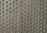 Folha de metal perfurada plana de aço inoxidável, malha metálica perfurada