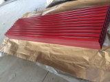 Tôle ondulée enduite enduite d'une première couche de peinture de plaque d'appui en métal/acier de couleur