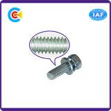 Tornillo principal hexagonal del acero de carbón para las piezas del ventilador con la arandela/el resorte