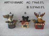 リス、くまおよびアメリカヘラジカの森林クリスマスの装飾の装飾