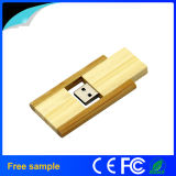 Atacado 4GB Pendrive Rectangular Wooden Rotation Flash Disk