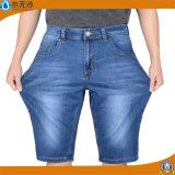 Calças de brim magros magros novas do ajuste das calças de estiramento da sarja de Nimes do Mens