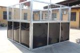 Establo del caballo de la puerta de oscilación de la calidad del HDPE con la azotea (XMS142)