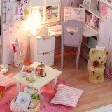 Het in het groot Houten MiniHuis van Doll van het Stuk speelgoed DIY