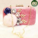 Saco do partido das senhoras de saco da embreagem da bolsa da flor da noite da forma com acessórios Eb790 da pele