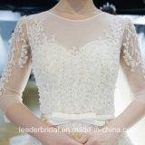 3/4의 소매 결혼 예복 실제적인 사진 주문 레이스 신부 무도회복 Ya116