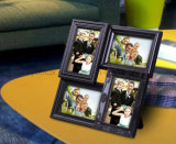Plástico Multi Openning Decoración para el Hogar Luz LED Collage Photo Frame
